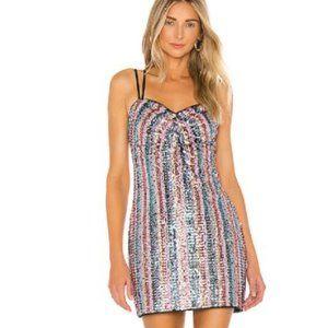 Lovers + Friends City Light Sequin Mini Dress NWT